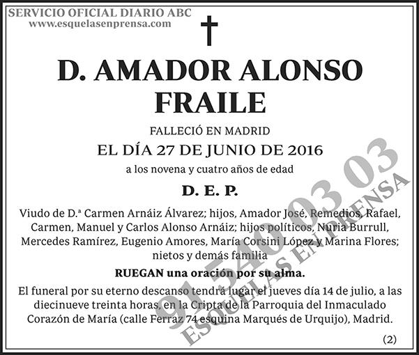 Amador Alonso Fraile